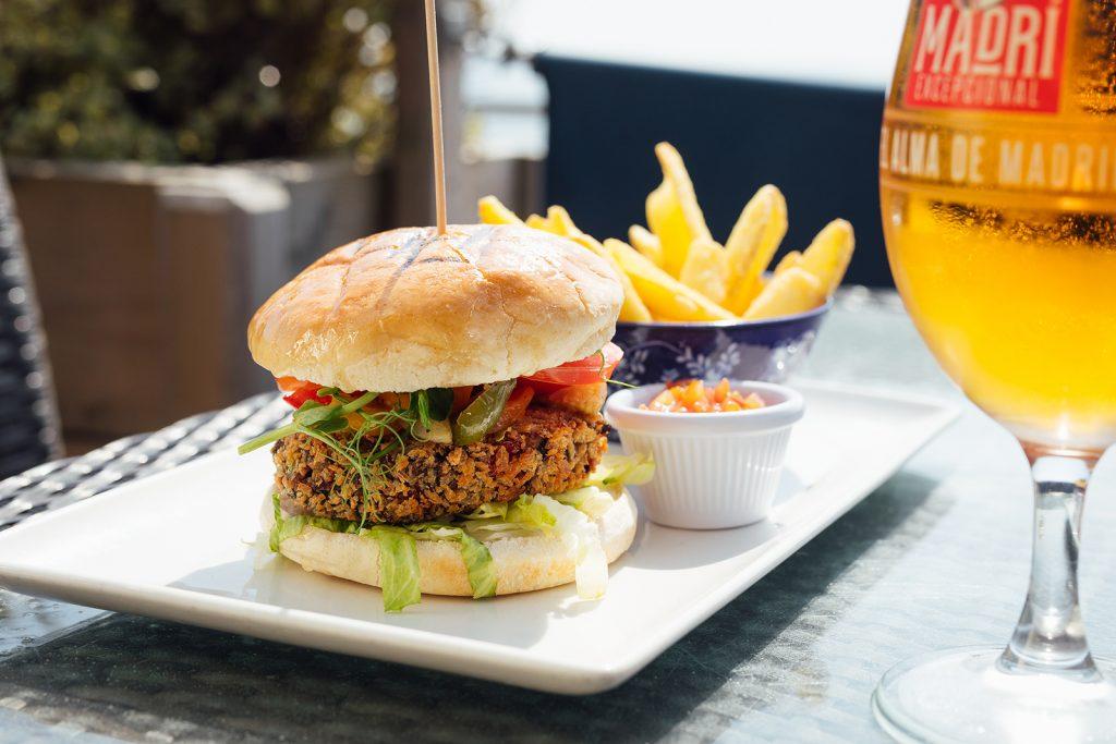 Salty's veggie burger
